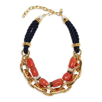 Majorca Goldplated, 12-13MM Freshwater Pearl & Multi-Beaded Collar Necklace Lizzie Fortunato