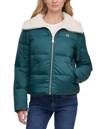 Faux-Sherpa-Lined Bomber Puffer Jacket Levi's®