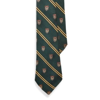 Vintage-Inspired Striped Club Tie  Size Ralph Lauren