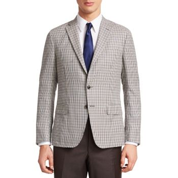 COLLECTION Houndstooth Plaid Sportcoat Saks Fifth Avenue