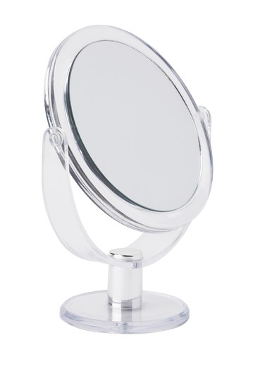 "Clear 7"" Vanity Rubberized Mirror 1-10x Magnification Kennedy International Inc."