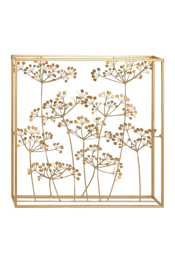 "Modern 28"" x 28"" Branch And Leaves Iron Wall Decor Willow Row"