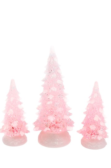 Lighted Color Changing Acrylic Holiday Trees with Timer & Remote Control - Set of 3 Gerson Company