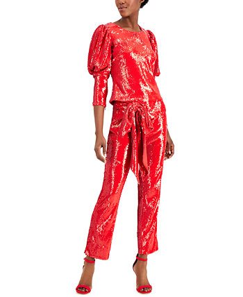 INC Petite Sequin Blouson-Sleeve Top, Created for Macy's INC International Concepts