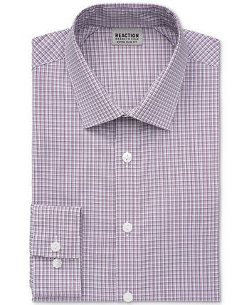 Men's Stay Crisp Extra-Slim Fit Performance Stretch Check Dress Shirt Kenneth Cole Reaction