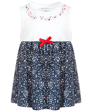 Baby Girls Ditsy Stars Cotton Tunic, Created for Macy's First Impressions