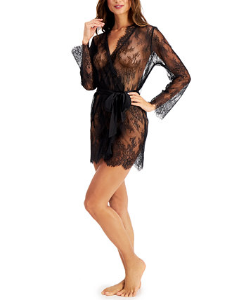 INC Women's Sheer Lace Wrap Robe, Created for Macy's INC International Concepts