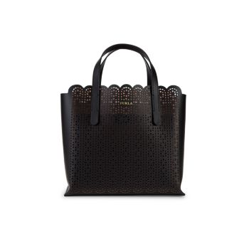 Sally Cut-Out Leather Tote Furla