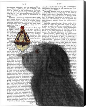 Labradoodle, Black, Ice Cream By Fab Funky Canvas Art Metaverse