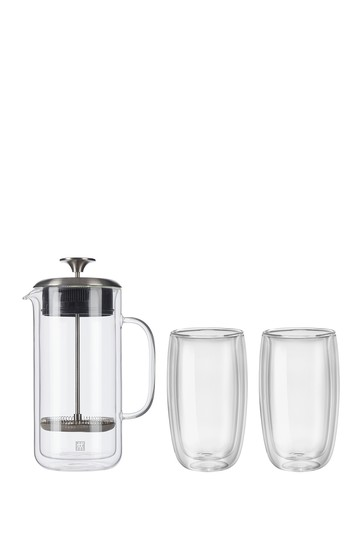 ZWILLING Sorrento Double Wall French Press and Latte Glass JA Henckels International
