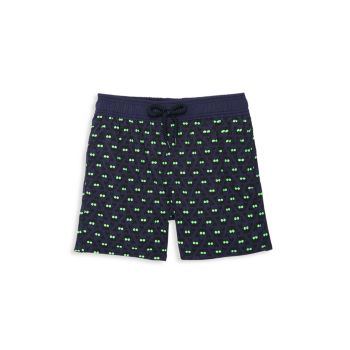 Little Boy's & Boy's Crabs Glow-In-The-Dark Swim Shorts VILEBREQUIN