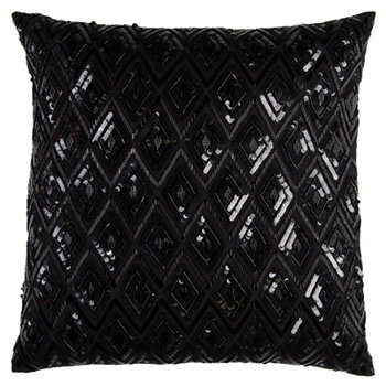 """20"""" x 20"""" Geometrical Design Down Filled Pillow Rizzy Home"""