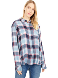 Super Soft Plaids Long Sleeve One-Pocket Button-Up Shirt Dylan by True Grit