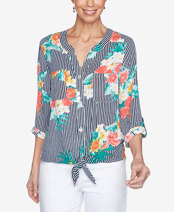 Misses Woven Floral Crepe Top Ruby Rd.