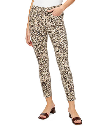 Leopard-Print Skinny Jeans Jen7 by 7 For All Mankind