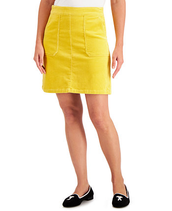 Corduroy A-Line Skirt, Created for Macy's Charter Club