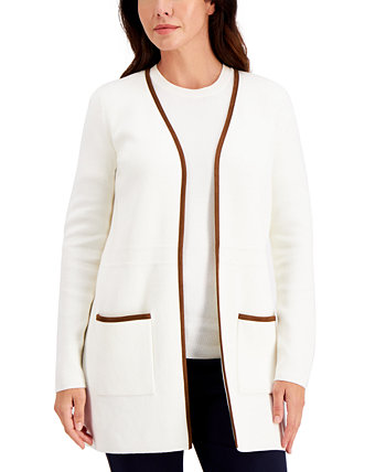 Milano Cotton Open-Front Cardigan, Created for Macy's Charter Club