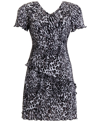 Petite Animal-Print Fit & Flare Dress Connected