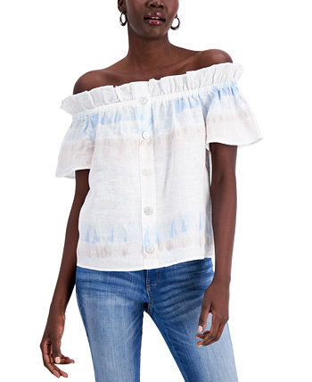 INC Printed Off-The-Shoulder Top, Created for Macy's INC International Concepts