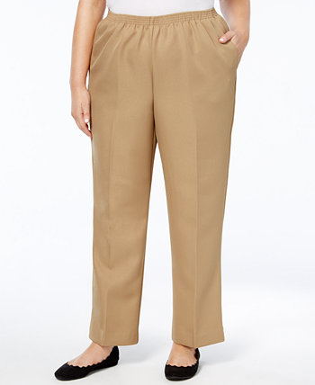 Plus Size Classic Pull-On Straight-Leg Pants Alfred Dunner