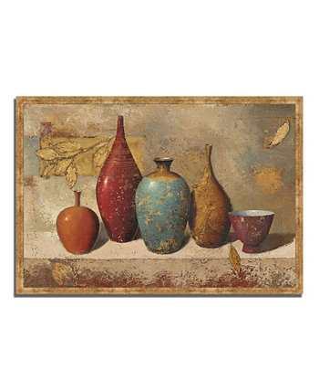 "Leaves and Vessels by James Wiens Framed Painting Print, 38"" x 26"" Tangletown Fine Art"