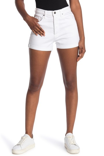 High Roller Whiteout Cuffed Shorts FIDELITY DENIM