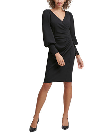 Ruched Sheath Dress Calvin Klein