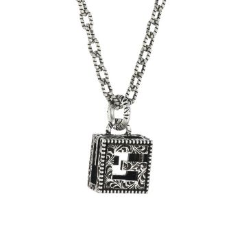 YB130 G Cube Sterling Silver Pendant Necklace GUCCI