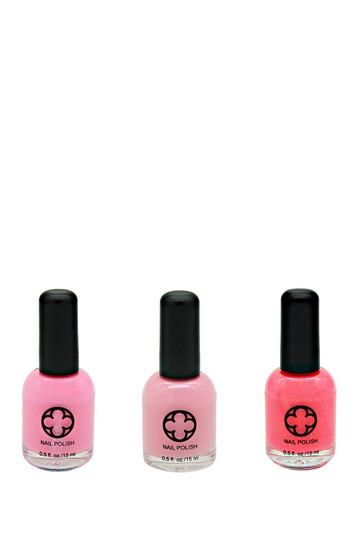3-Piece Nail Polish Set - Flower Crown Glamour Status