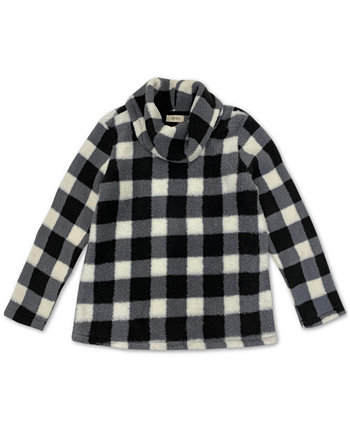 Checked Cowlneck Sweatshirt, Created for Macy's Style & Co