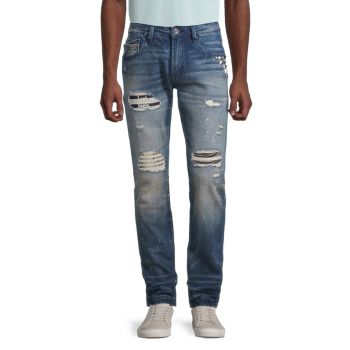 Rocker Slim-Fit Distressed Jeans Cult Of Individuality
