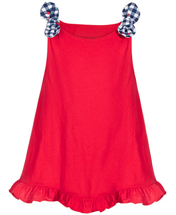 Baby Girls Knot Ruffle Cotton Tunic, Created for Macy's First Impressions