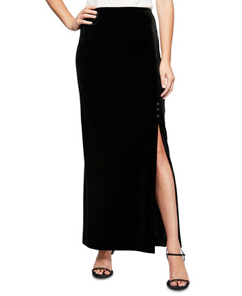 Petite Side-Slit Long Skirt Alex Evenings