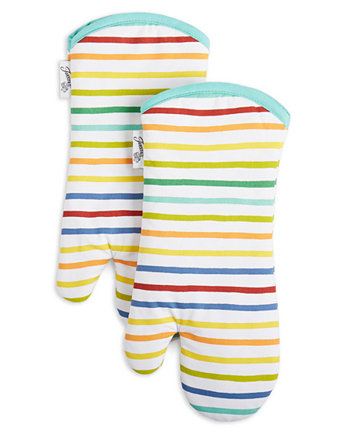 Tropical Stripe Oven Mitts, Set of 2 FIESTA