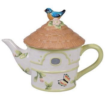Spring Meadows 3-D Bird House Teapot Certified International