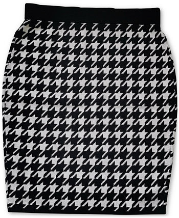 Houndstooth Sweater Skirt, Created for Macy's Bar III