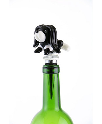 Dog Bottle Stopper Three Star