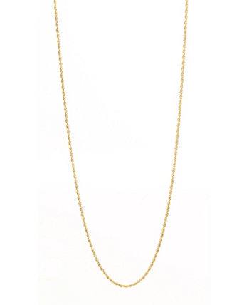 Men's Gold Plated Rope Chain in Stainless Steel Necklace Eve's Jewelry