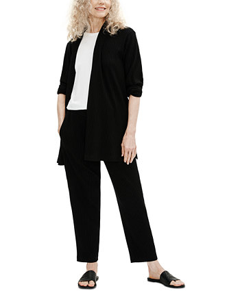 Ribbed Pull-On Pants Eileen Fisher