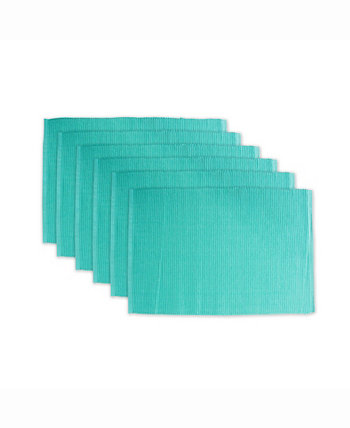 Ribbed Placemat Set of 6 Design Imports