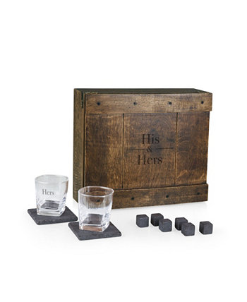 His Hers Whiskey Box Gift Set LEGACY