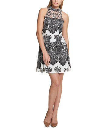 Lace A-Line Dress Kensie