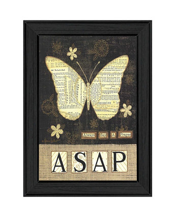 "Always Say a Prayer By Annie LaPoint, Printed Wall Art, Ready to hang, Black Frame, 15"" x 11"" Trendy Décor 4U"
