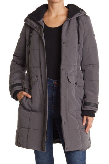 Quilted Hooded Long Parka Jacket Lucky Brand