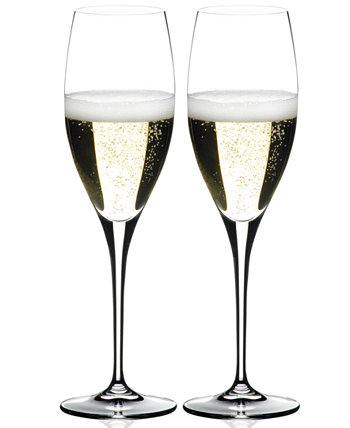 Set of 2 Heart to Heart Champagne Flutes Riedel