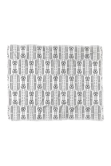 Holli Zollinger Mudcloth White Woven Throw Blanket Deny Designs