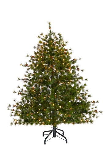 5ft. Colorado Mountain Pine Artificial Christmas Tree with 250 Clear Lights & Pine Cones NEARLY NATURAL