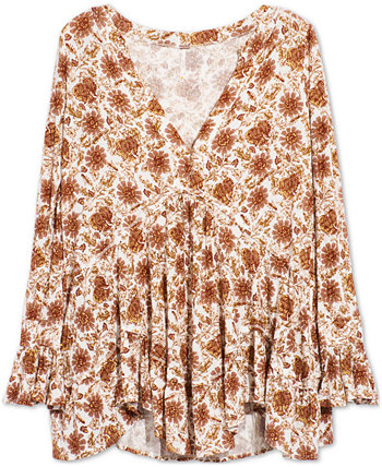 Olivia Printed Ruffled Tunic Free People
