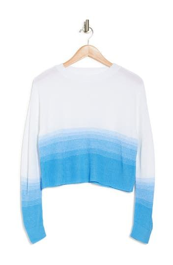 Ombre Pullover Crop Sweater Abound