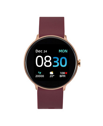 Women's Sport's Merlot Silicone Strap Smart Watch 43.2mm ITouch